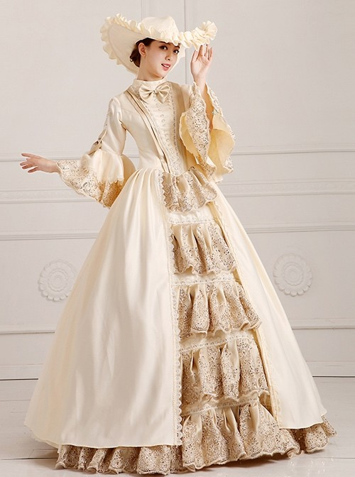 European Palace Style Gorgeous and Elegant Stage Costume Lolita Prom Long Dress