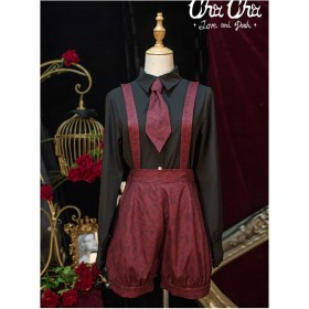 Love And Death Series Printing Wine Red Lolita Bloomers