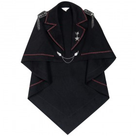 Academic Lolita show Military Style Double-faced Woolen Poncho Outwear