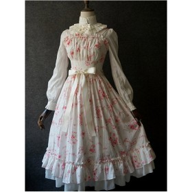 Small Fresh Floral Ruffle  Flounces Pure Cotton Sweet Lolita Sling Dress