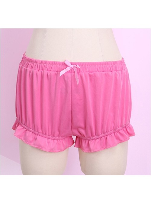 Pure Rose Red Cute Pink Bowknot Sweet Lolita Bloomers
