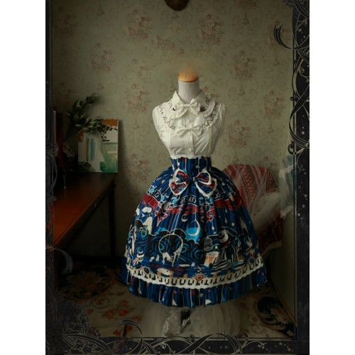 Magic Tea Party Circus Maiden Series Printing Lace Sweet Lolita Skirt