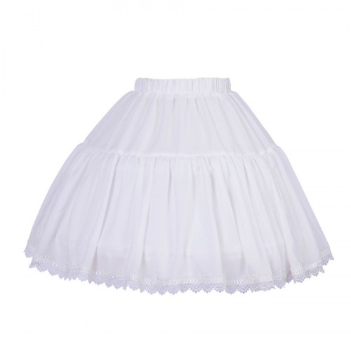 Sweet Lolita White Chiffon Fishbone Short Petticoat