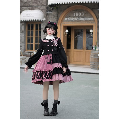 Sweet Lolita Show Retro Style Coat and  Ruffle Skirt  Lolita outfits