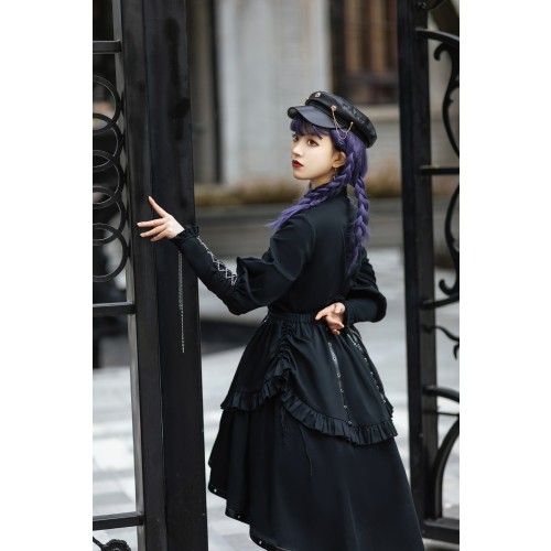 Gothic Lolita  Military Style  Blouse and Skirt Two Pieces Lolita Outfit
